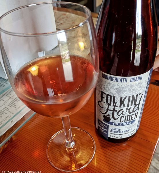 Folkin' Hard Apple-Blueberry-Lavender Cider at Bonnieheath Estate Lavender and Winery in Waterford, Norfolk County, Ontario
