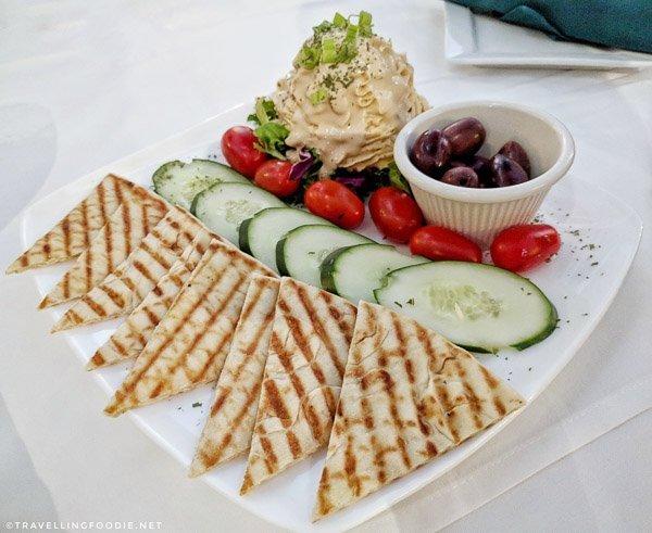 Hummus Salad at Cafe Alcazar in St. Augustine, Florida