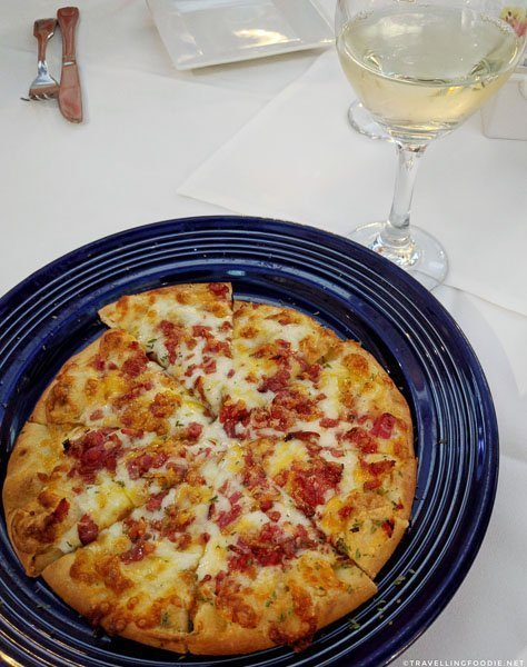 Italian pizza at Cafe Alcazar in St. Augustine, Florida