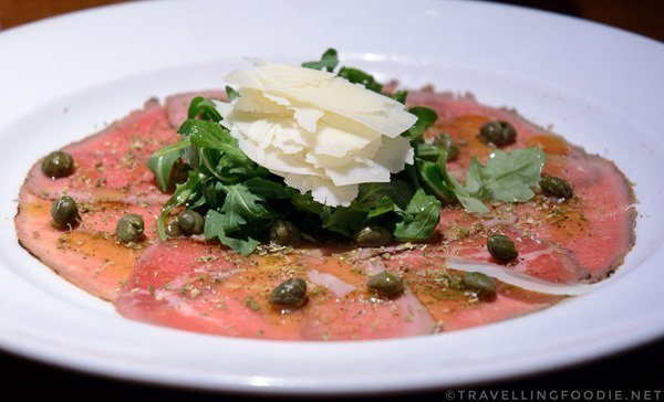 Beef Carpaccio at Casa Domenico in Kingston, Ontario