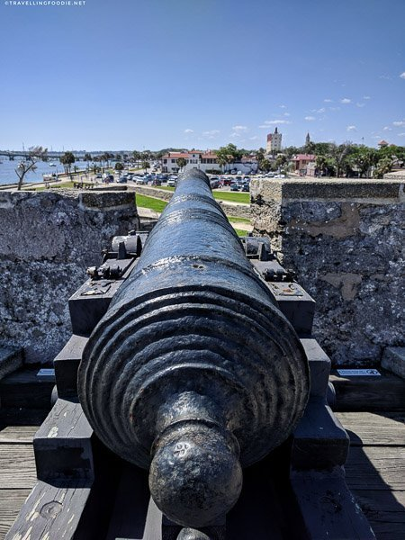Cannon at Castillo de San Marcos in St. Augustine, Florida