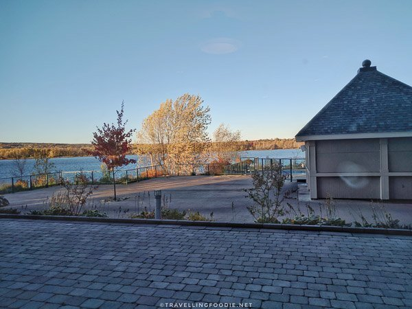 Waterfront views at [catch] Urban Grill in Delta Hotel in Fredericton, New Brunswick