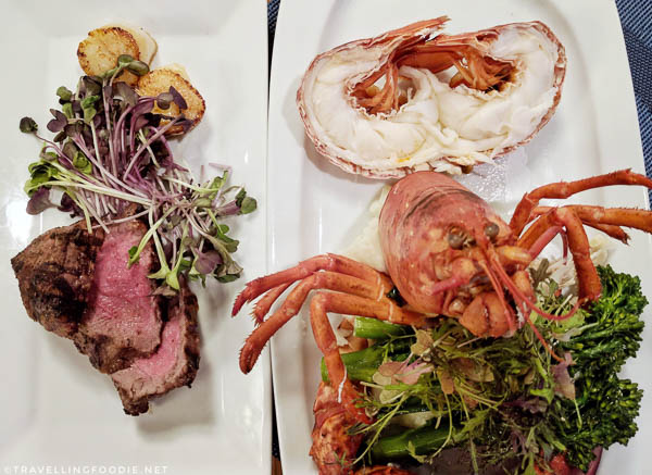 Lobster and Steak at [catch] Urban Grill in Delta Hotel in Fredericton, New Brunswick