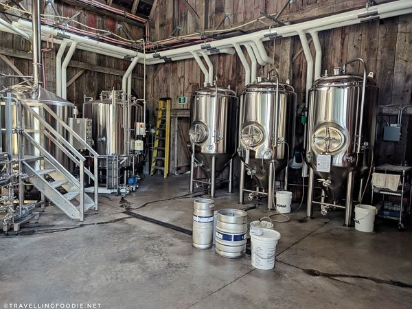 Brewery at Charlotteville Brewing Company in Simcoe, Norfolk County, Ontario