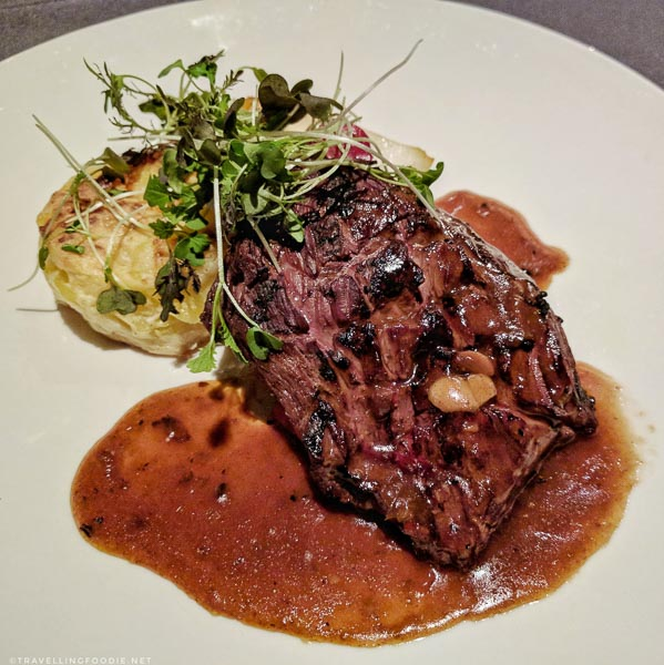 Bison Steak at Domaine Chateau-Bromont, Eastern Townships, Quebec