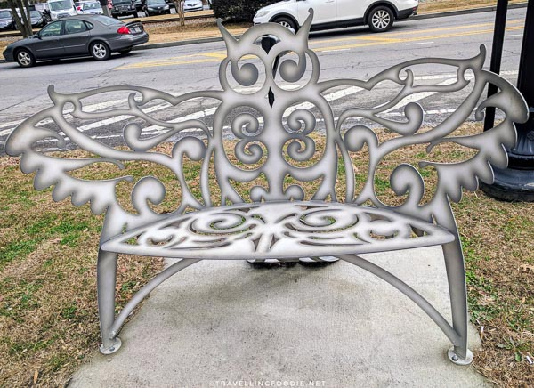 Artsy benches in Downtown Woodstock