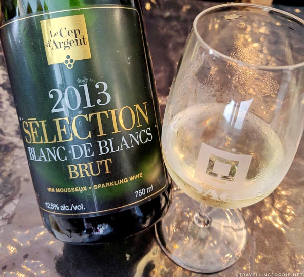 Blanc de Blancs Brut from Vignoble Le Cep d'Argent at Fête des vendanges Magog-Orford in Eastern Townships, Quebec