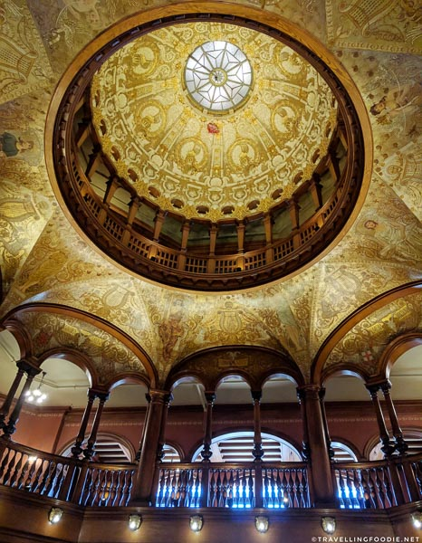 Ceiling inside Flagler College in St. Augustine, Florida