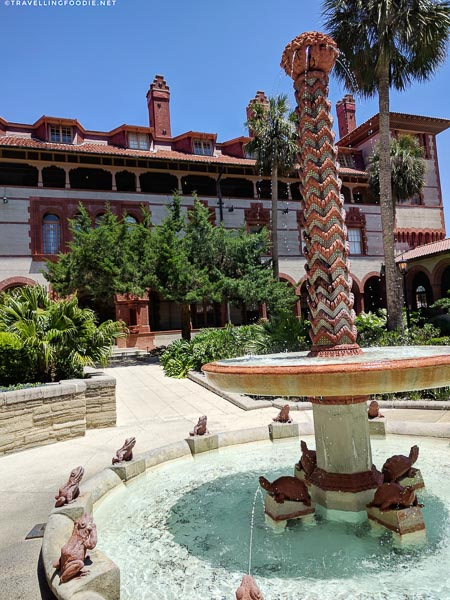 Fountain at Flagler College in St. Augustine, Florida