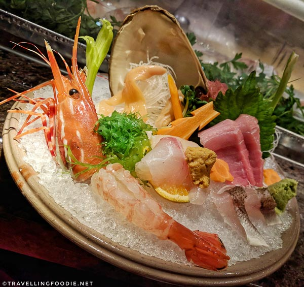 Sashimi Platter at Ise-Shima Restaurant in Miyako Hybrid Hotel in Torrance, California