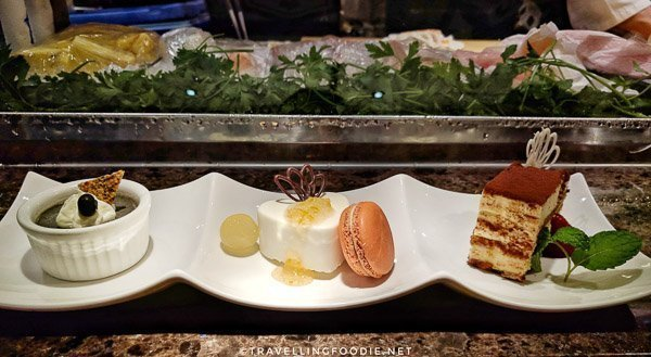 Mini Dessert Sampler at Ise-Shima Restaurant in Miyako Hybrid Hotel in Torrance, California