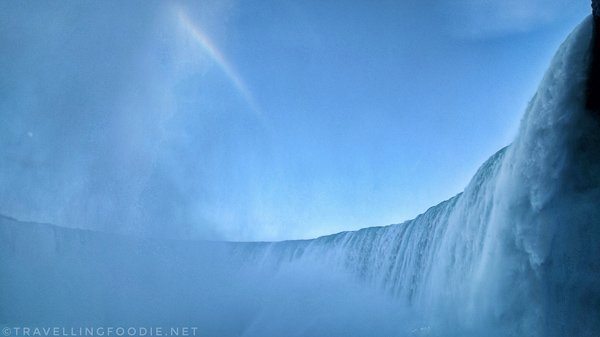 Journey Behind The Falls with Rainbow in Niagara Falls, Ontario/></p><p><img class=