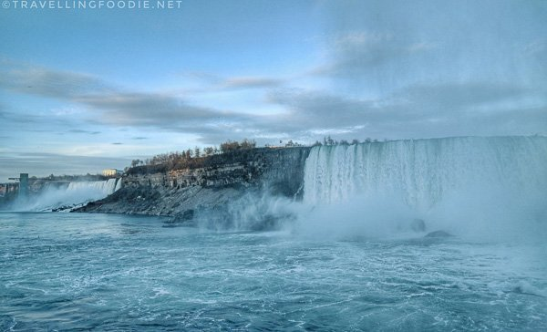 View of waterfalls from Journey Behind The Falls in Niagara Falls, Ontario/></noscript></p><p><img class=
