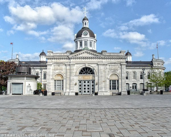 Kingston City Hall and Market Square in Kingston, Ontario