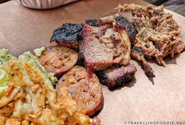 Brisket, Pulled Pork, Sausage from La Barbecue Food Truck in Austin, Texas