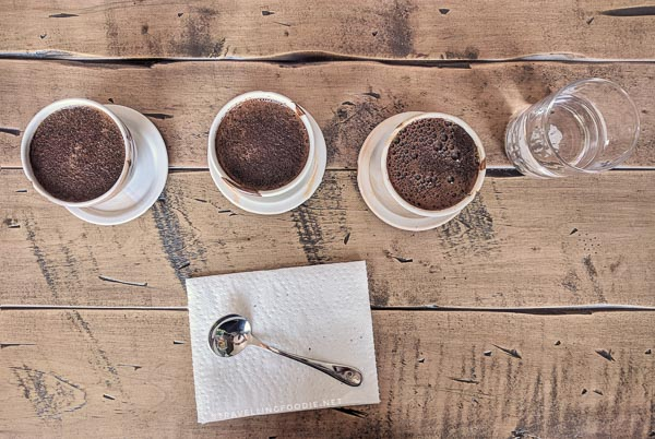 Coffee cupping experience at Las Chicas del Cafe at St. Thomas, Elgin County, Ontario