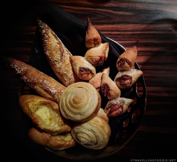 Bread Basket at L'Atelier de Joel Robuchon Montreal