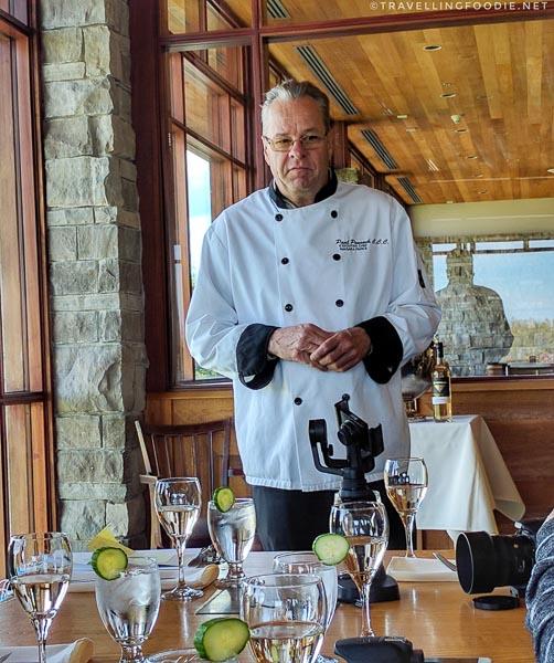 Niagara Parks Executive Chef Paul Pennock at Legends on the Niagara Restaurant in Niagara Falls, Ontario