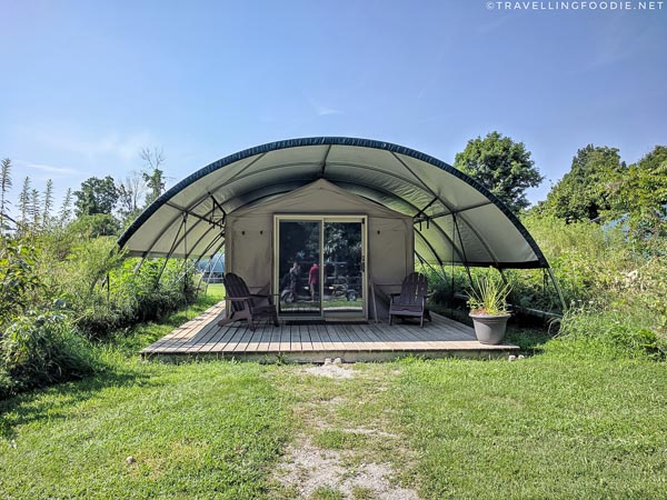 Wilderness Suite Glamping Tent at Long Point Eco Adventures in St. Williams, Norfolk County, Ontario