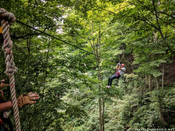 Zip Line at Long Point Eco Adventures in St. Williams, Norfolk County, Ontario