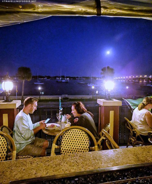 View of Matanzas River from Meehan's Irish Pub in St. Augustine, Florida