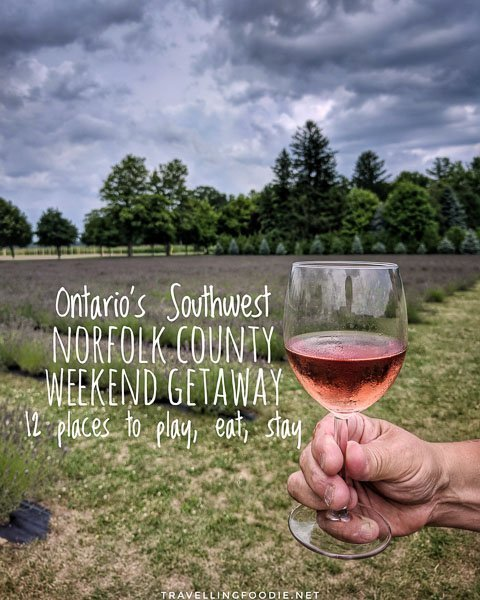 Weekend Getaway in Norfolk County, Ontario's Southwest || 12 Stops To Eat, Play Stay including Long Point Eco Adventures, Red Apple Rides, Erie Beach Hotel, Burning Kiln Winery, Bonnieheath Estate and Blueberry Hill Estates.
