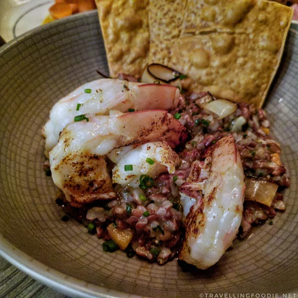 Texas Shrimp and Jefferson Red Rice from Olamaie in Austin, Texas