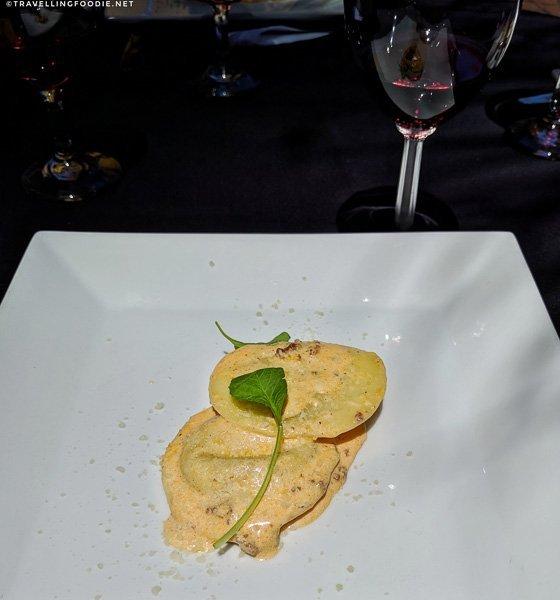 Beef Raviolis at Old City House Inn & Restaurant in St. Augustine, Florida
