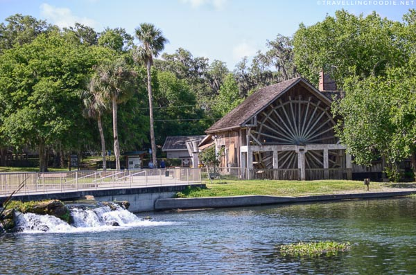 Outside The Old Spanish Sugar Mill Grill and Griddle House in De Leon Springs State Park, West Volusia, Florida