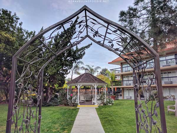 Garden Gazebo at Palm Garden Hotel in Thousand Oaks, California