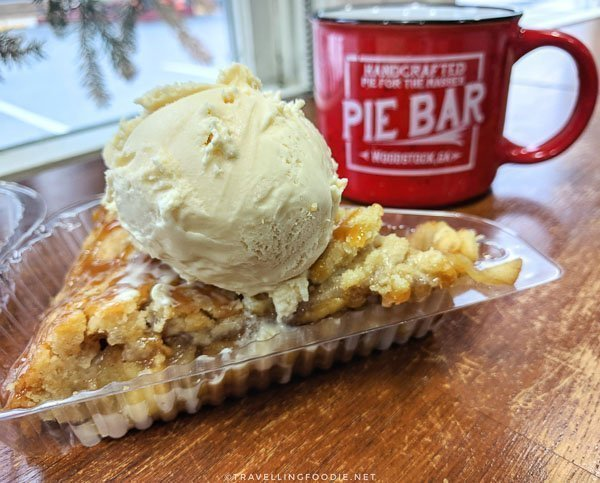 Salted Caramel Apple Streusel Pie at Pie Bar in Downtown Woodstock, Georgia