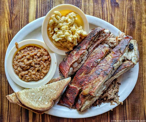 Platter at Pitmasters BBQ in DeLand, West Volusia, Florida