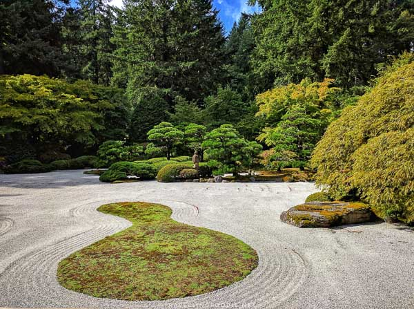Flat Garden at Portland Japanese Garden in Portland, Oregon