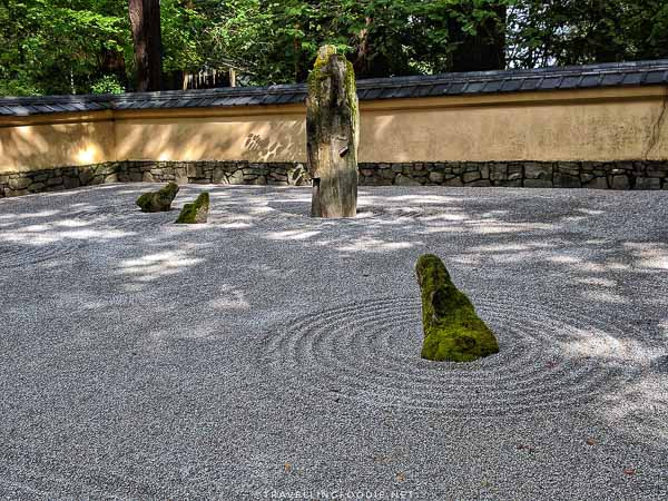 Sand and Stone Garden at Portland Japanese Garden in Portland, Oregon