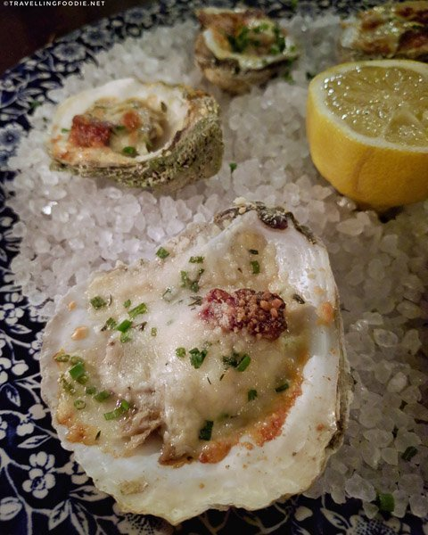 Oysters at Preserved Restaurant in St. Augustine, Florida