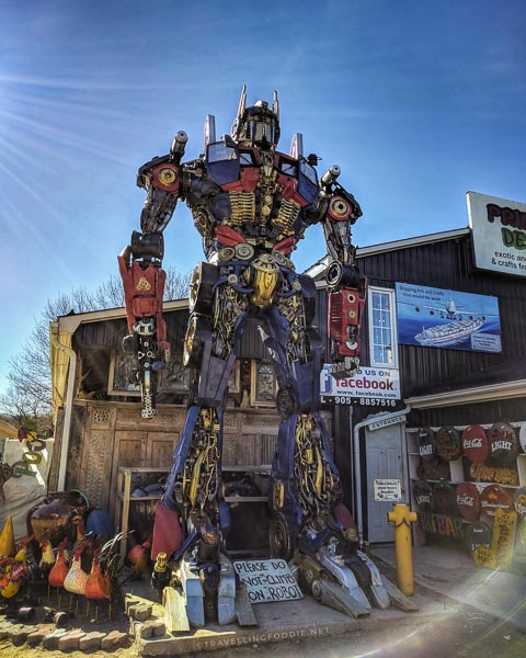 Transformers Optimus Prime Robot at Primitive Designs in Port Hope, Ontario