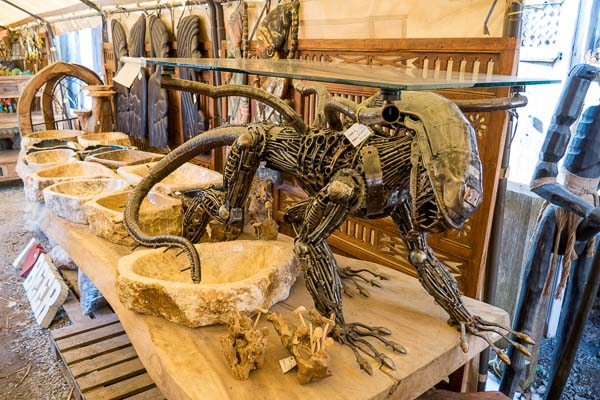 Alien Xenomorph coffee table at Primitive Designs in Port Hope, Ontario