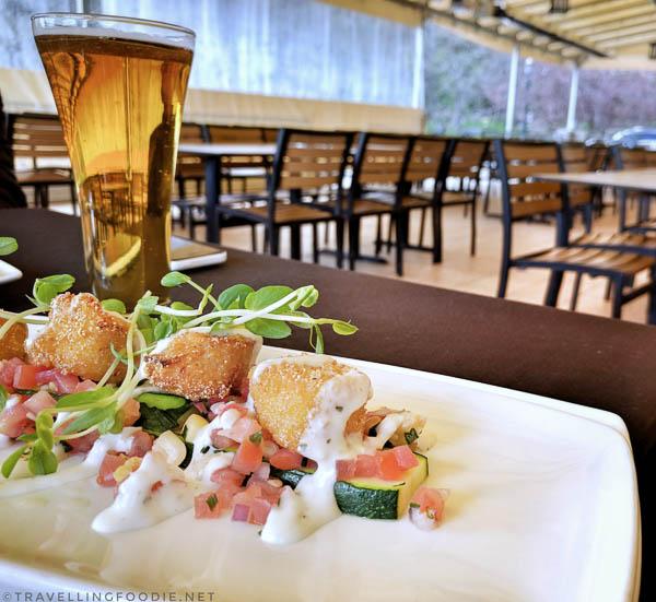 Atlantic Scallops with Beer at Queen Victoria Place Restaurant in Niagara Falls, Ontario