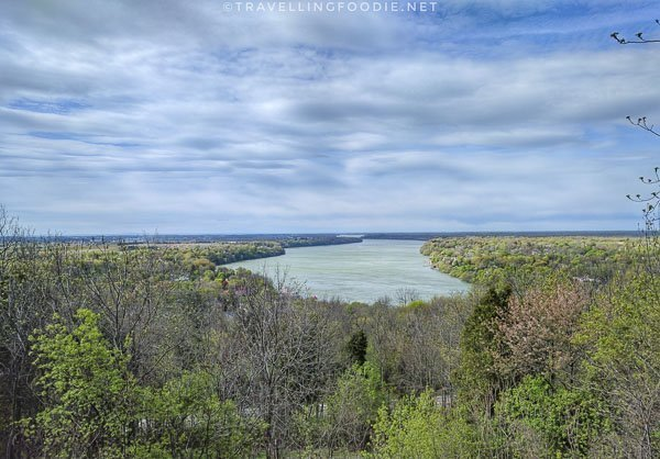 Niagara River views at Queenston Heights Restaurant in Queenston, Ontario