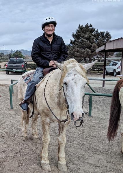Raymond Cua on the horse at Rocking K Horse Stables in Newbury Park, Conejo Valley, California