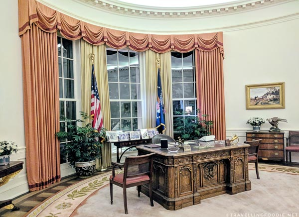 Oval Office replica at Ronald Reagan Presidential Library in Simi Valley, California