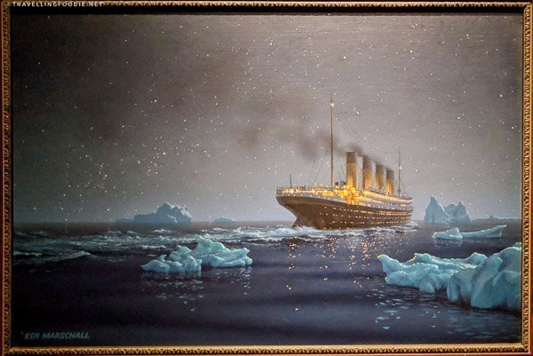 Titanic Painting at Ronald Reagan Presidential Library in Simi Valley, California