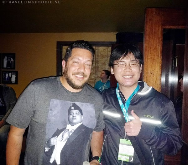 Travelling Foodie Raymond Cua with Sal Vulcano at Kill Tony Show during Moontower Comedy Festival in Austin, Texas
