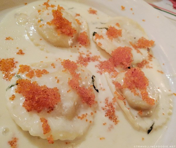 Lobster Ravioli at Scardino's Italian Restaurant in Torrance, California