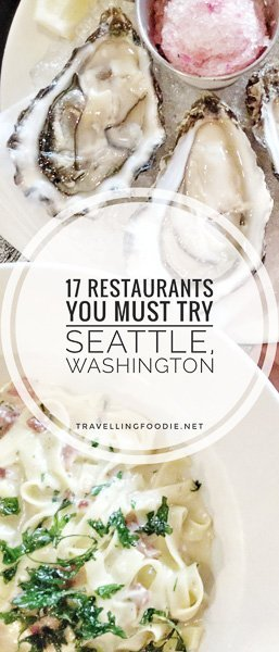 Best Restaurants in Seattle, Washington: food guide covering where to eat in Seattle including Sushi Kashiba, Pike Place Chowder, Taylor Shellfish, Art of the Table, Shiro's Sushi, Le Panier Bakery, Isarn Thai Soul Kitchen.