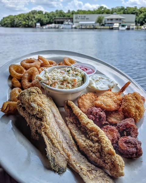 Platter with a View at Shady Oak Restaurant in DeLand, West Volusia, Florida