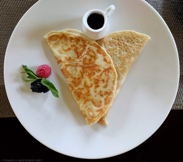 Buckwheat Crepe for breakfast at Spa Eastman in Eastern Townships, Quebec