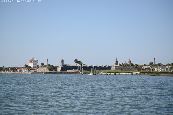 Castillo de San Marcos from a distance in St. Augustine, Florida