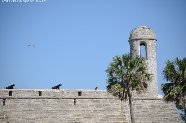Close-up of Castillo de San Marcos in St. Augustine, Florida