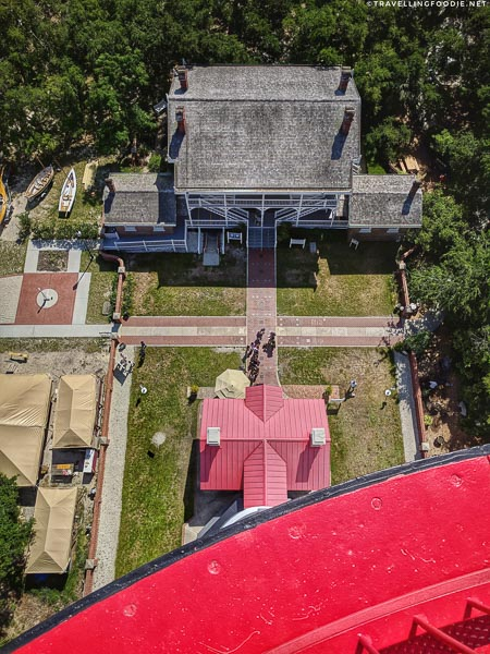 Looking down the St. Augustine Lighthouse